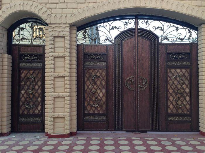 арки для ворот частных домов фото часть тех